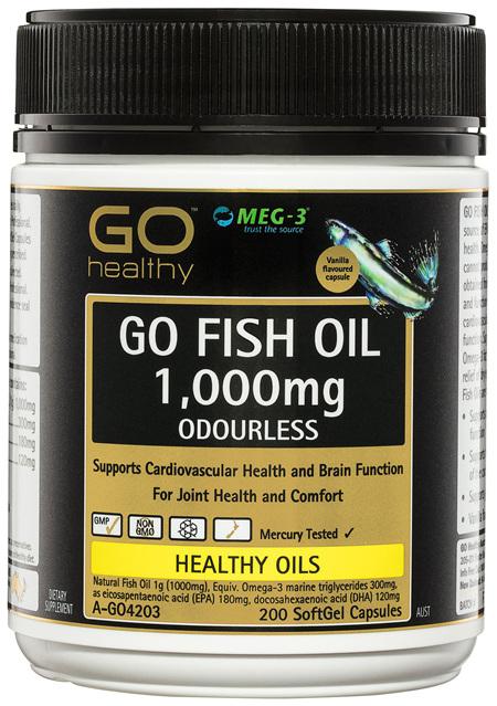GO Healthy GO Fish Oil 1,000mg Odourless SoftGel Capsules 200 Pack