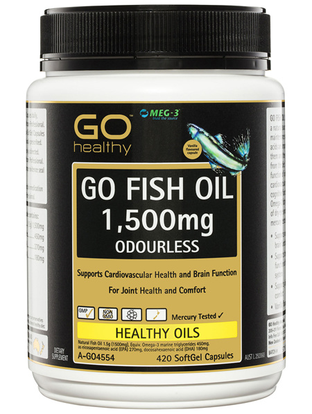 GO Healthy GO Fish Oil 1,500mg Odourless SoftGel Capsules 420 Pack