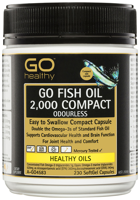 GO Healthy GO Fish Oil 2,000 Compact Odourless SoftGel Capsules 230 Pack