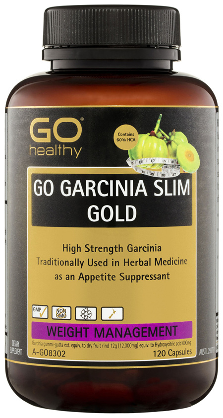 GO Healthy GO Garcinia Slim Gold Capsules 120 Pack