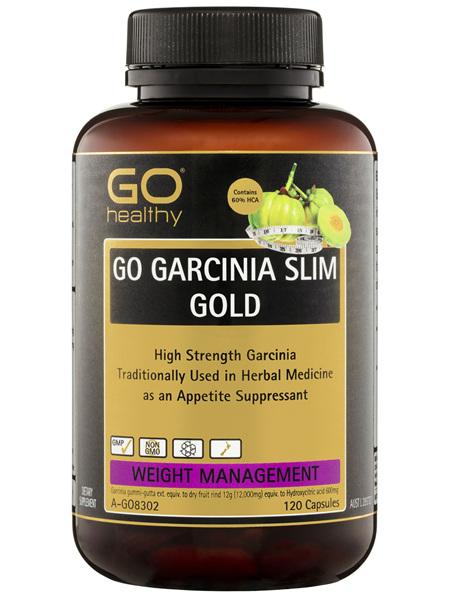 GO Healthy GO Garcinia Slim Gold Capsules 120 Pack