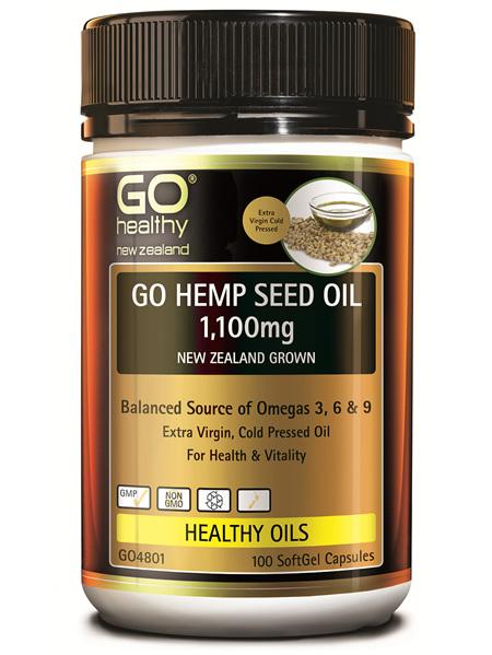 GO Healthy GO Hemp Seed Oil 1100mg 100 SoftGel Capsules