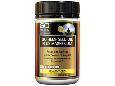 GO Healthy GO Hemp Seed Oil Plus Magnesium 100 SoftGel Capsules
