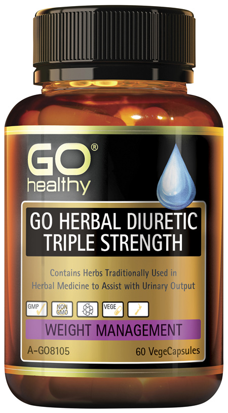 GO Healthy GO Herbal Diuretic Triple Strength 60 VegeCapsules