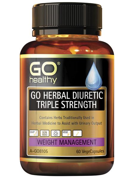 GO Healthy GO Herbal Diuretic Triple Strength 60 VegeCapsules