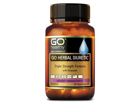 GO Healthy GO Herbal Diuretic Triple Strength Formula 30 VegeCapsules
