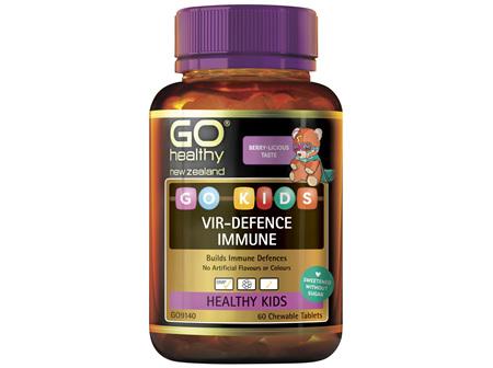 GO Healthy GO Kids VirDefence Immune 60 Chewable Tablets