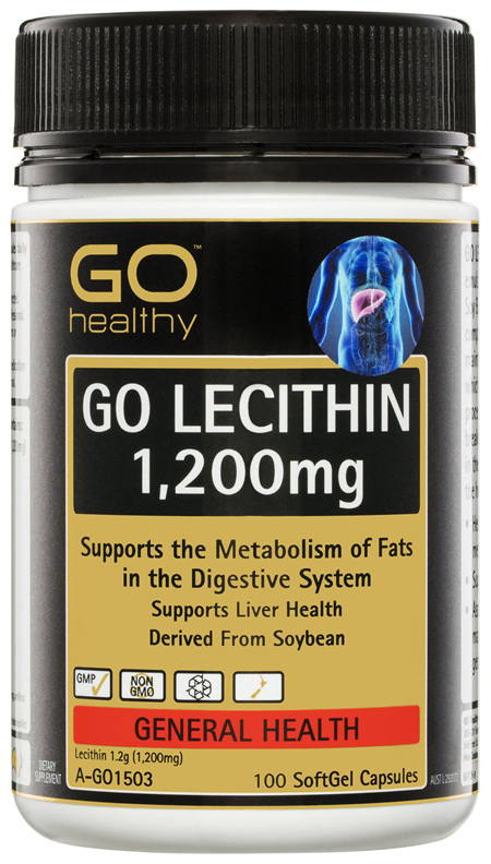 GO Healthy GO Lecithin 1,200mg 100 SoftGel Capsules
