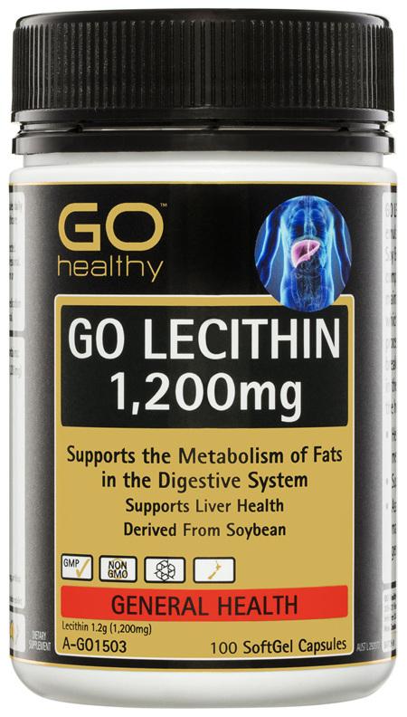 GO Healthy GO Lecithin 1,200mg 100 SoftGel Capsules