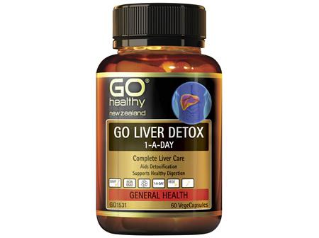 GO Healthy GO Liver Detox 1-A-Day Complete Liver Care 60 VegeCaps