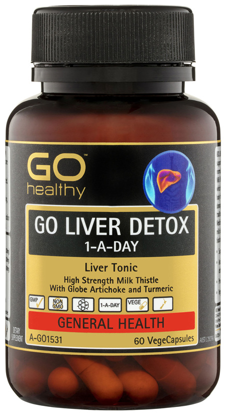 GO Healthy GO Liver Detox 1-A-Day VegeCapsules 60 Pack