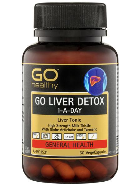 GO Healthy GO Liver Detox 1-A-Day VegeCapsules 60 Pack
