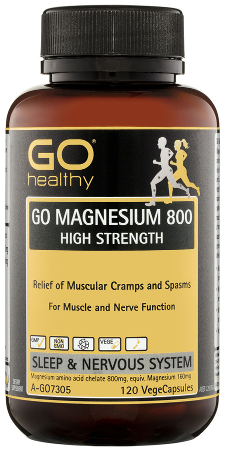 GO Healthy GO Magnesium 800 High Strength VegeCapsules 120 Pack