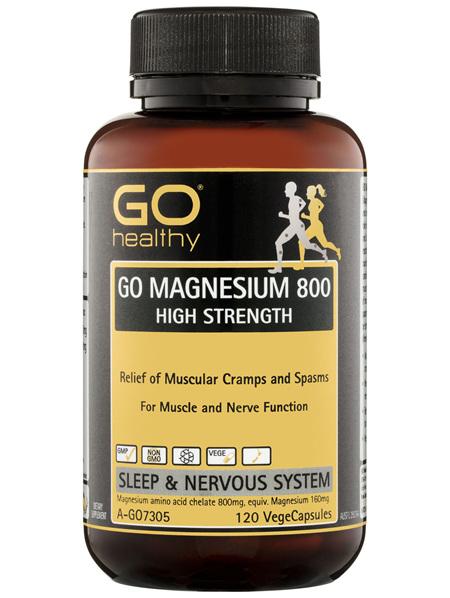 GO Healthy GO Magnesium 800 High Strength VegeCapsules 120 Pack