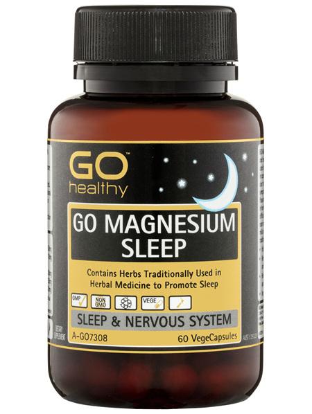 GO Healthy GO Magnesium Sleep VegeCapsules 60 Pack