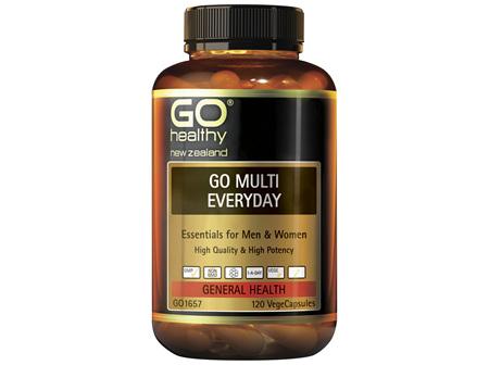 GO Healthy Go Multi Eeveryday 120 VegeCaps