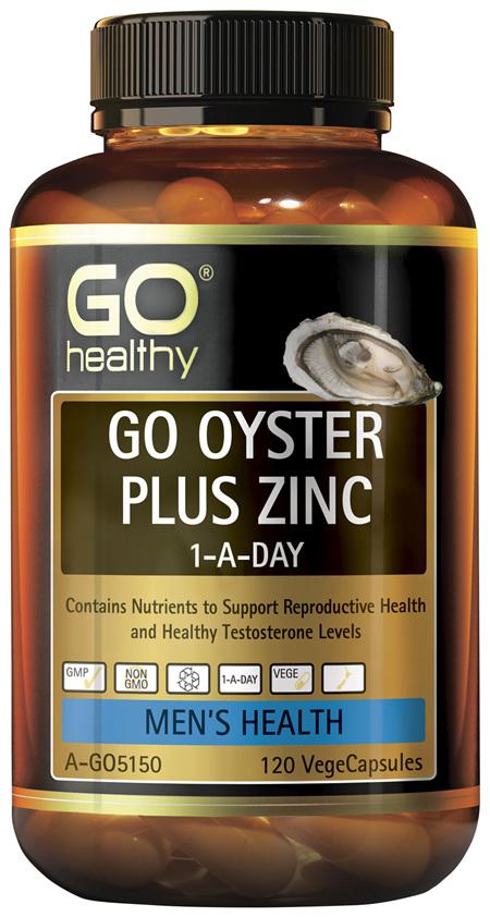 GO Healthy GO Oyster Plus Zinc 1-A-Day 120 VegeCapsules