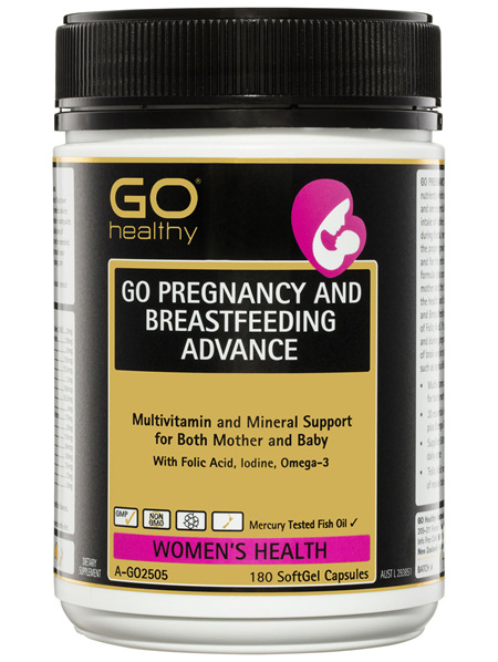 GO Healthy GO Pregnancy And Breastfeeding Advance SoftGel Capsules 180 Pack