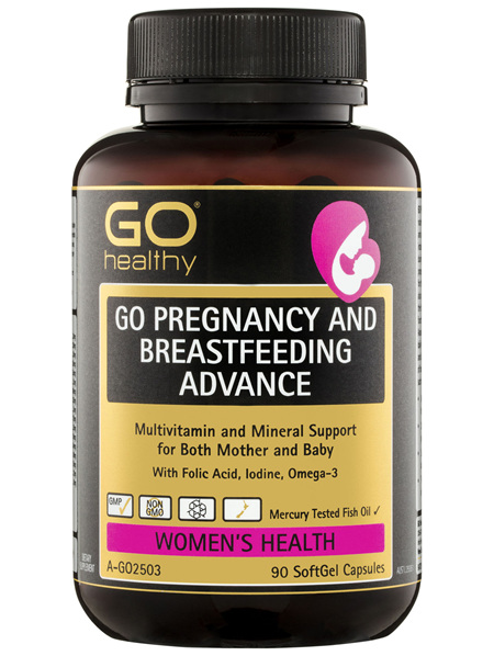 GO Healthy GO Pregnancy And Breastfeeding Advance SoftGel Capsules 90 Pack