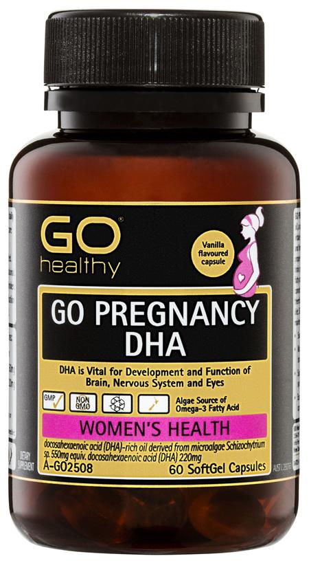 GO Healthy GO Pregnancy DHA SoftGel Capsules 60 Pack