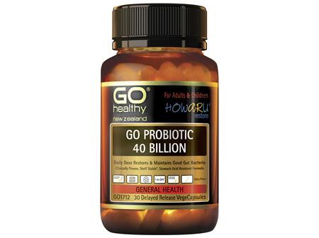 GO Healthy GO Probiotic 40 Billion 30 Capsules