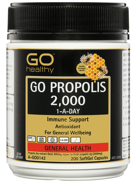 GO Healthy GO Propolis 2,000 1-A-Day SoftGel Capsules 200 Pack