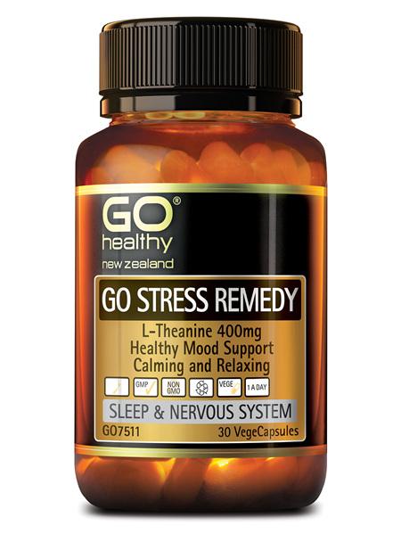 GO Healthy GO Stress Remedy 30 VegeCapsules