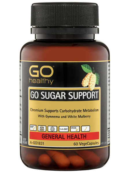 GO Healthy GO Sugar Support VegeCapsules 60 Pack