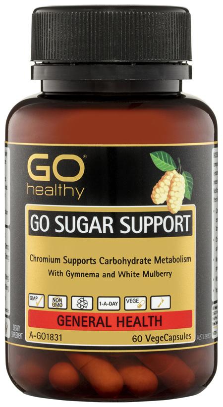 GO Healthy GO Sugar Support VegeCapsules 60 Pack