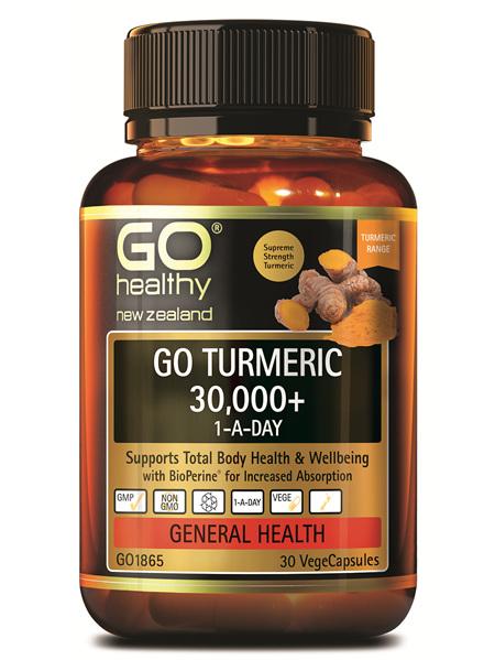 GO Healthy GO Turmeric 30000 1ADay 30 Capsules