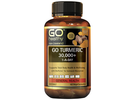 GO Healthy GO Turmeric 30000 1ADay 60 Capsules