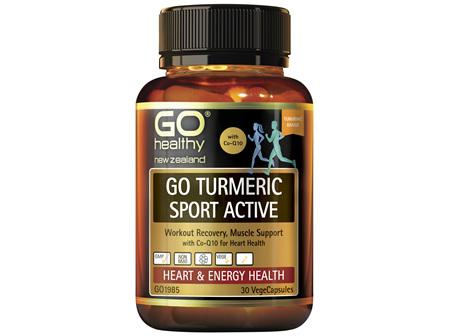 GO Healthy GO Turmeric Sport Active 30 VegeCaps