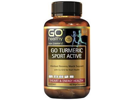 GO Healthy GO Turmeric Sport Active 60 VegeCaps
