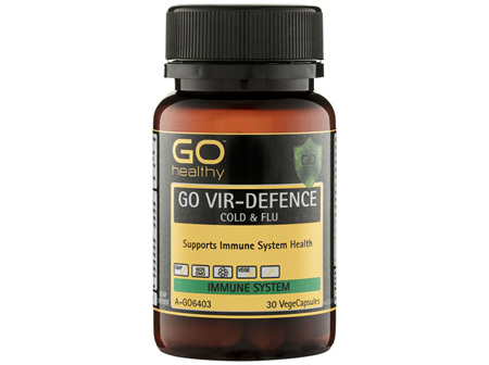 GO Healthy GO Vir-Defence Cold & Flu VegeCapsules 30 Pack