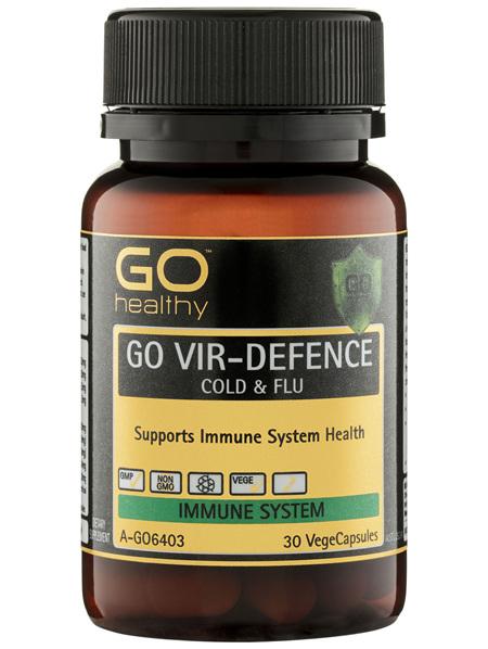 GO Healthy GO Vir-Defence Cold & Flu VegeCapsules 30 Pack