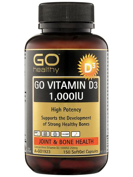 GO Healthy GO Vitamin D3 1000IU SoftGel Capsules 150 Pack