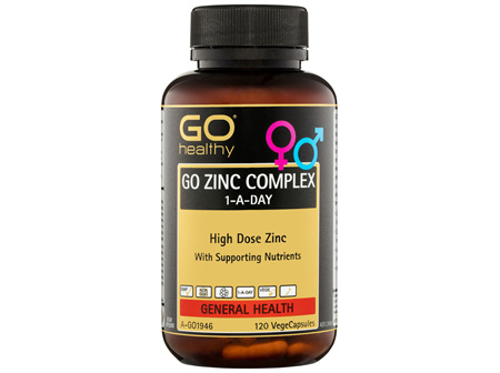 GO Healthy GO Zinc Complex 1-A-Day VegeCapsules 120 Pack