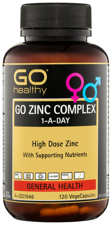 GO Healthy GO Zinc Complex 1-A-Day VegeCapsules 120 Pack