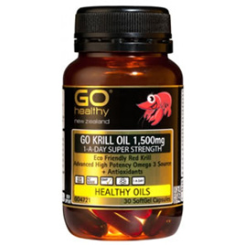 Go Healthy Krill Oil 1,500mg 30 softgel caps