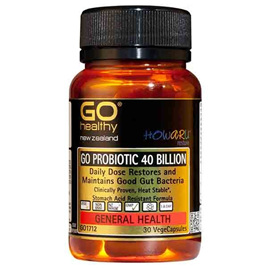 Go Healthy ProBiotics 40 Billion shelf stable 30 vege caps