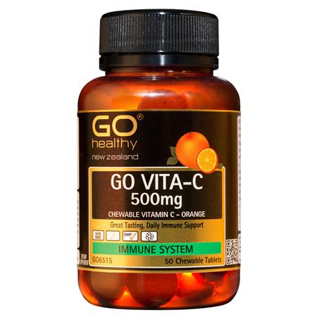 GO Healthy Vita-C 500mg Orange 50 Chew