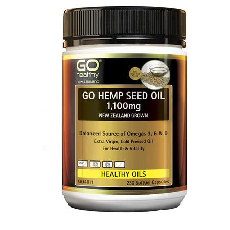 GO Hemp Seed 1,100mg 230 Caps