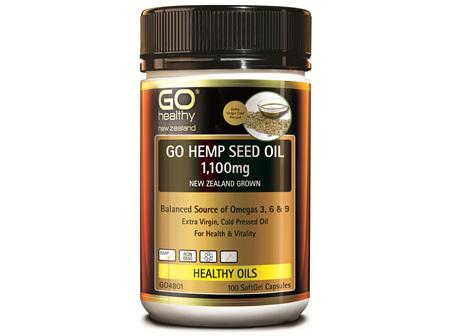 GO HEMP SEED OIL 1,100MG (100 CAPS)