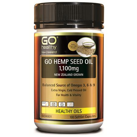 GO Hemp Seed Oil 1100mg 100Cap