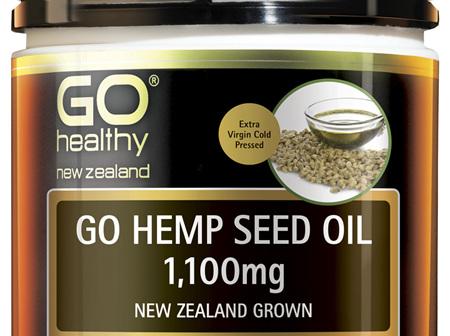 GO Hemp Seed Oil 1,100mg New Zealand Grown 100 Caps