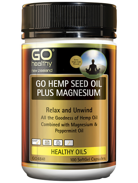 GO Hemp Seed Oil Plus Magnesium 100 Caps