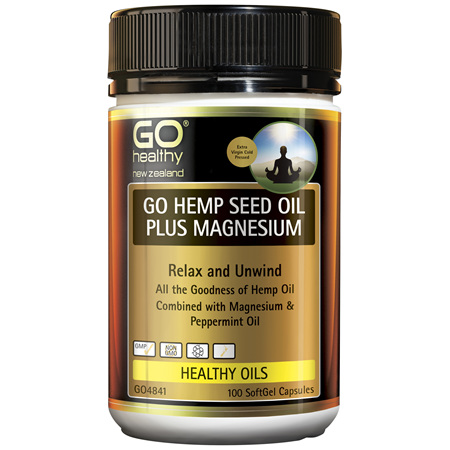 GO Hemp Seed Oil Plus Magnesium 100 Caps
