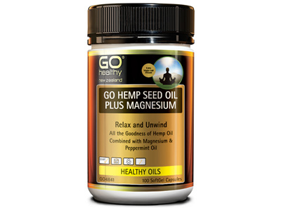 GO HEMP SEED OIL PLUS MAGNESIUM (100CAPS)