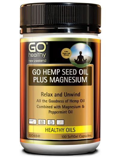 GO HEMP SEED OIL PLUS MAGNESIUM (100CAPS)