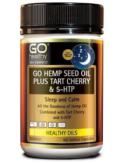 GO HEMP SEED OIL PLUS TART CHERRY & 5-HTP (100CAPS)